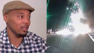 Black man saves people in car wreck.