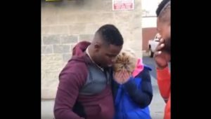 Black men help White woman struggling for gas money.